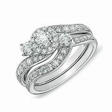 delightful halo cheap diamond bridal ring 1 carat