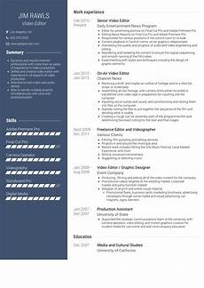 video editor resume sles and templates visualcv