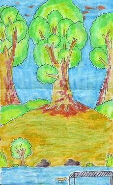 menggambar flora fauna dan alam benda seni rupa