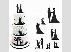 Patchwork Cutters Wedding Silhouette Set Cake Decorating