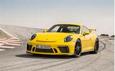 2018 porsche 911 gt3 racing yellow wallpapers hd