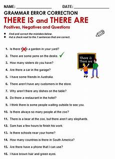 worksheets using there is there are there is there are all things grammar