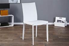 stuhl weiss design design stuhl wei 223 echtleder metall dunord design
