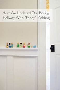 decking the halls with quot fancy quot molding farmhouse love hallway lighting hallway decking the halls with quot fancy quot molding house