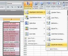 removing duplicates in excel 2007