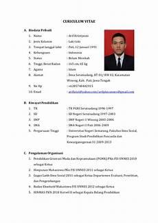 format resume bahasa english contoh format curriculum vitae bahasa inggris asleafar