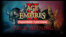age of empires 2 the expandable card game pack opening 8 packs youtube