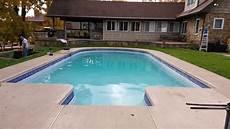 concrete pool renovation tile installation diamond brite plaster pool patio califon nj youtube
