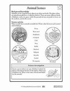 animal habitat worksheets for 3rd grade 13892 3rd grade 4th grade science worksheets animal habitats 4th grade science third grade