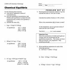 chemical equilibrium lesson plans worksheets lesson planet