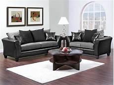 Casual Contemporary Black Gray Sofa Seat Living