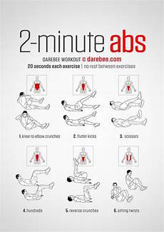 2 minute abs gym exos pinterest abdos exercices
