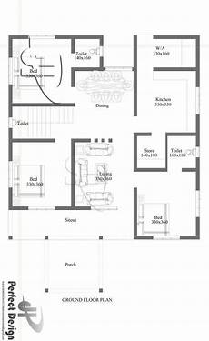 house plans in kerala with 3 bedrooms simple and beautiful kerala style 3 bedroom house in 1153