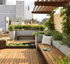 Reihenhaus Vorgarten Gestalten - outdoor designing terrace garden modern roof