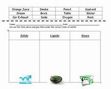 states of matter sorting worksheet classroom ideas pinterest different types we and student