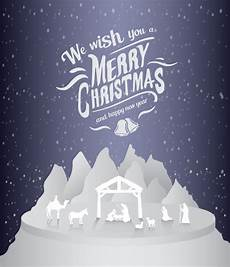 merry christmas vector with nativity premium photo