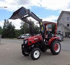 kleintraktor mit frontlader und strassenzulassung traktor eurotrack 454e 45ps mit frontlader allrad und