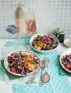 ingwer krautsalat mit lachsbuletten rezept rezepte