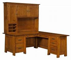 real wood home office furniture amish corner computer desk l shaped mission solid wood