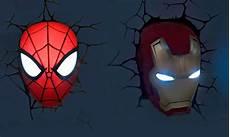 marvel 3d superhero wall light groupon goods