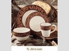 Tooled Leather Style Dinnerware from Montana Silversmiths