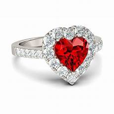 cubic zircon love heart shaped wedding rings for