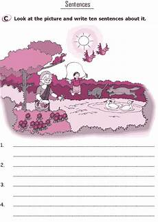 worksheets on picture composition for grade 4 22896 pin on grammar
