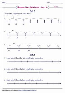 skip counting number line for multiplication worksheets 11962 skip counting worksheets mixed review
