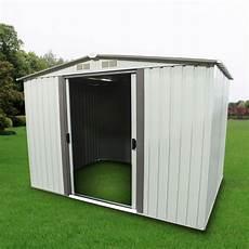 outdoor storage shed steel garden utility tool backyard lawn building garage ebay