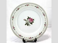 Noritake China Reverie Floral White Pink Rose Dinner Plate