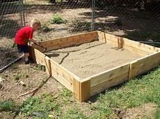 sandkasten selber bauen homestead roots sandbox for addies birthday could also
