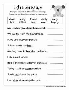 antonym worksheet woo jr kids activities
