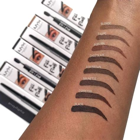 Nyx Eyebrow Powder Pencil Swatches