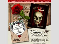 Download a printable MURDER MYSTERY PARTY GAME now