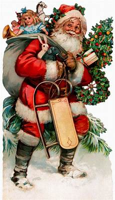 vintage santa claus cards and a wallpaper the