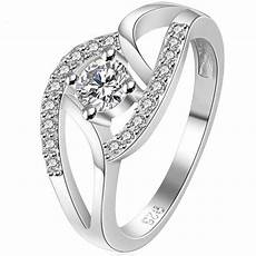 size 4 11 white gold silver ring wedding engagement heart infinity girl child ebay
