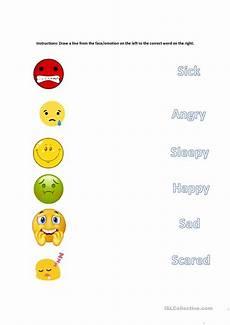 matching emotions english esl worksheets