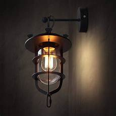 lyndon metal cage retro industrial wall sconce light tudo and co