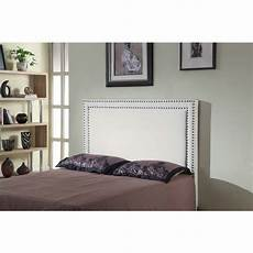 size fabric studded bed headboard white buy
