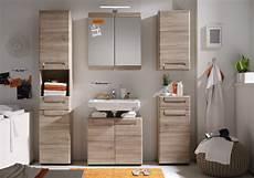 Badezimmermöbel Holz Günstig - badm 246 bel badezimmer set eiche mit hochschrank