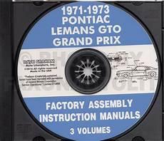 auto manual repair 1972 pontiac grand prix security system 1971 1972 1973 pontiac assembly manual cd lemans gto grand prix grand am factory ebay