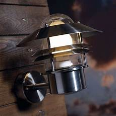 nordlux blokhus up outdoor wall light stainless steel