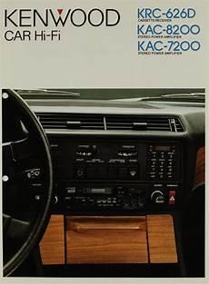 kenwood car hi fi krc 626d kac 8200 kac 7200 brochure