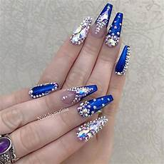 30 pretty nail designs with diamonds to be trendy in 2019