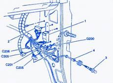 Chevrolet Astro 2001 Door Lock Relay Electrical Circuit
