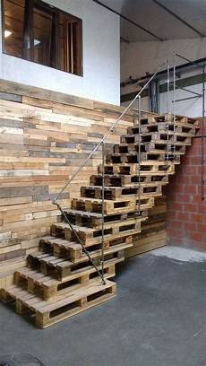 Pallet Stairs Pallet Stairs Staircase Design Stair Walls