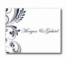 microsoft word thank you card template blank wedding thank you card template navy wedding editable