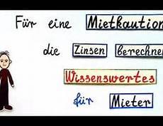 mietkaution zinsen berechnen f 252 r eine mietkaution die zinsen berechnen