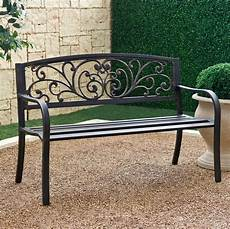 wrought iron benches a note of luxury in landscape symphony allstateloghomes com