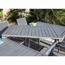 table jardin extensible alu table de jardin aluminium extensible